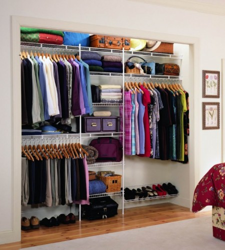 Master Bedroom Walk In Wire Shelving Reach In Closet